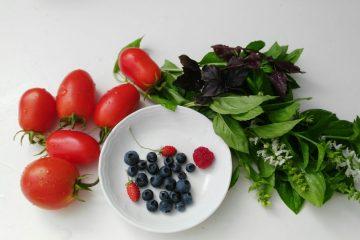 arandanos y tomates